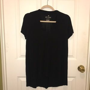 American Eagle black keyhole neck soft and sexy